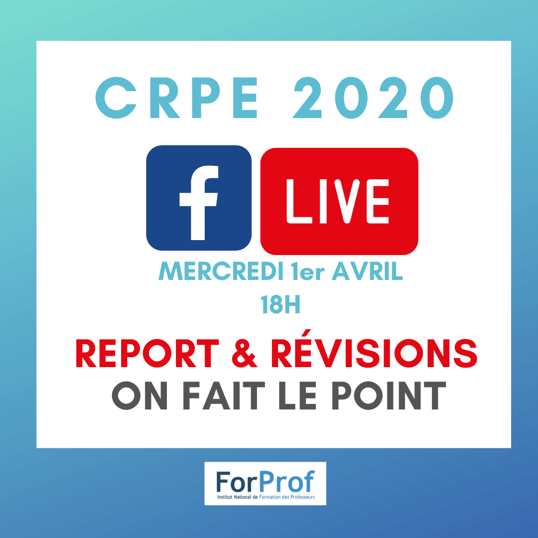 Mars20_Report crpe fb live 1er avril 1