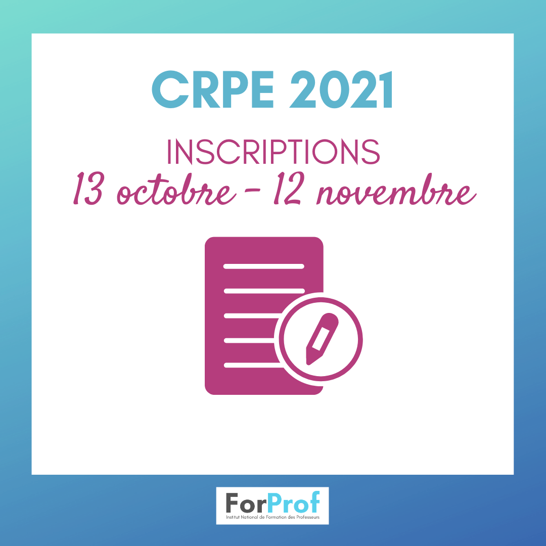 Dates d inscription au CRPE 2021